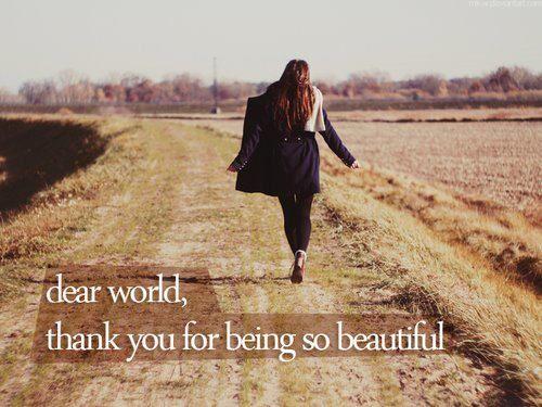 thank you, world.