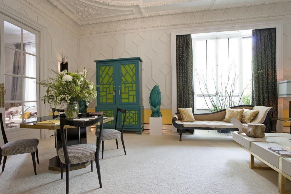 El decorador Pepe Leal es el responsable de este refinado salón ...
