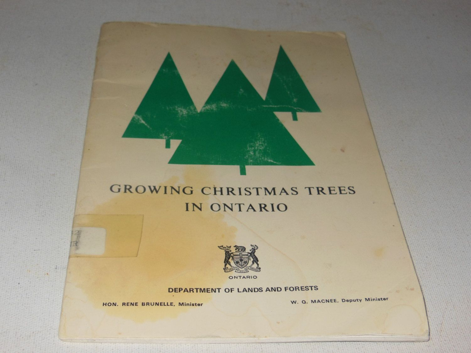 #Growing Christmas #Trees In Ontario Vintage Guide #Softcover Book Department Of ,  View more on the LINK: http://www.zeppy.io/product/gb/3/212581448/