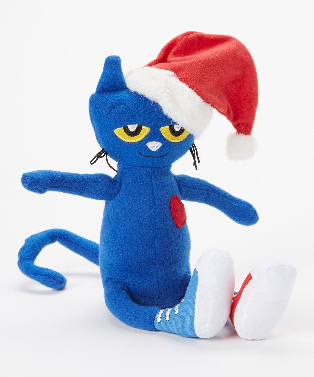 Look at this pete the cat saves christmas plush toy on