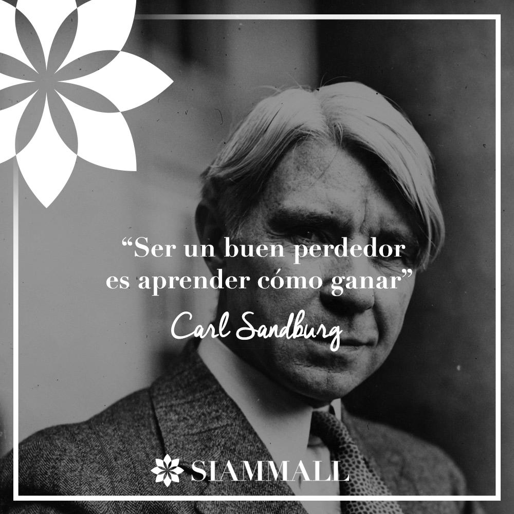 "#Frases #ComprasTenerife ""Ser un buen perdedor es aprender cómo ganar"" Carl Sandburg.   ""Being a good loser is learning how to win"" Carl Sandburg"