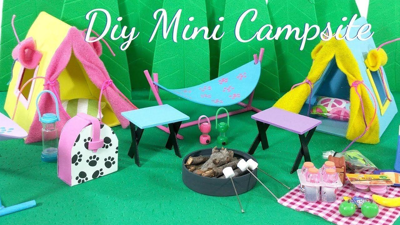 DIY Miniature Campsite Outdoor Scene diycattenttutorial