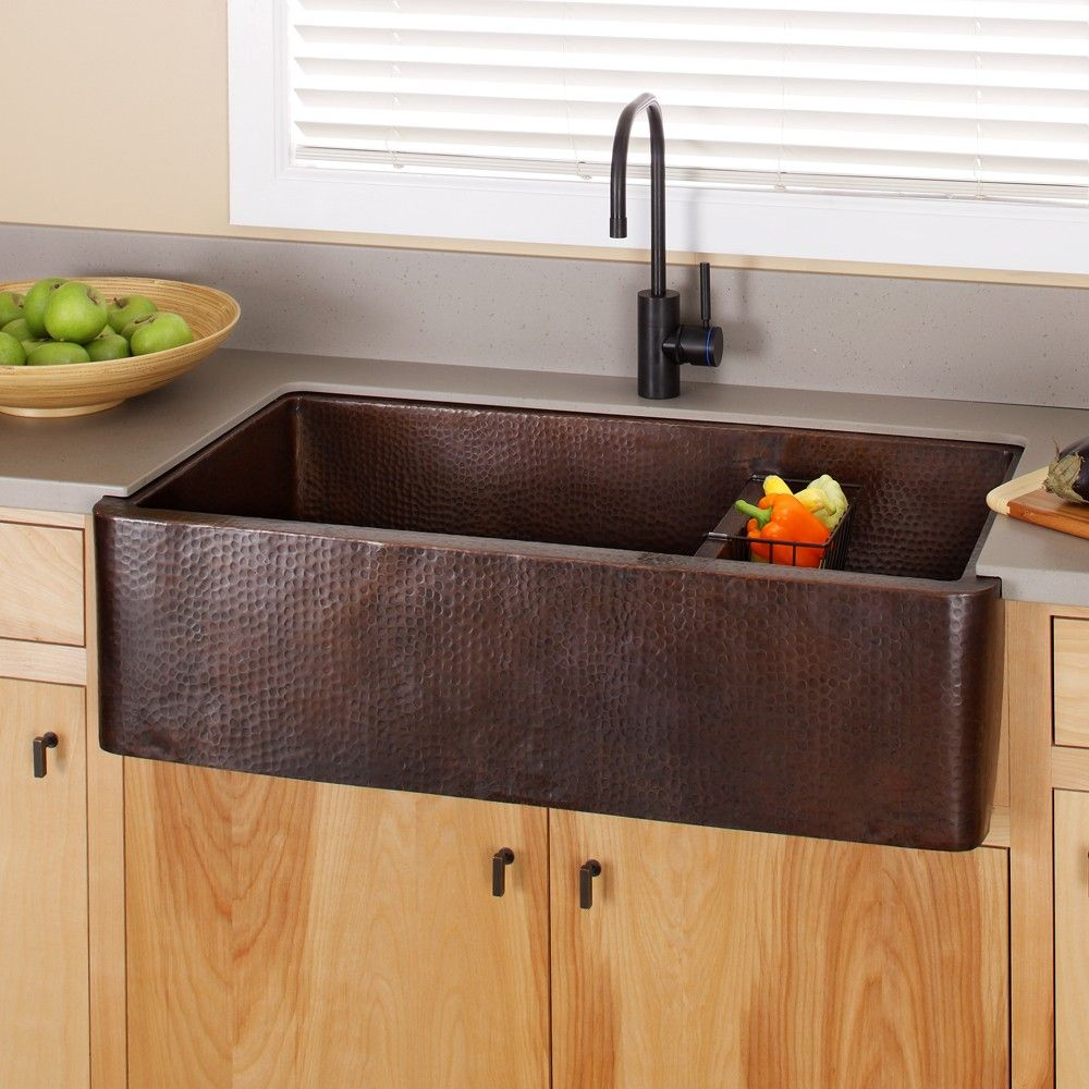 Farmhouse Duet Pro 40 Inch Copper Kitchen Sink Kitchen Sink Design Ikea Farmhouse Sink Traditional Kitchen Sinks
