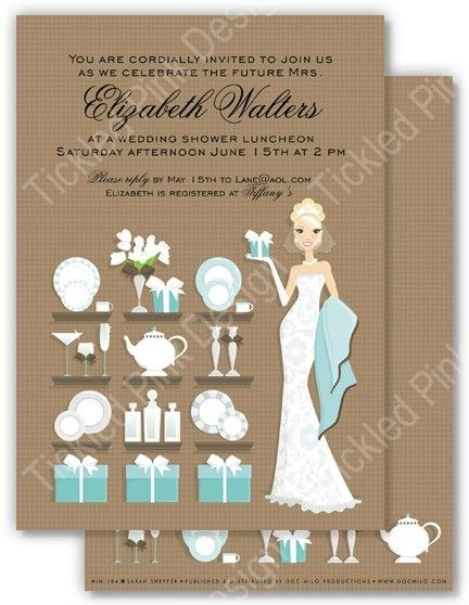 blonde bridal shower gift registry shower invitation bridalshower