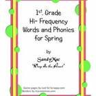 Includes 1st grade Hi-Frequency words, phonics, game board,compound words, contractions, long and short vowels and student printables.EnjoySandyM...