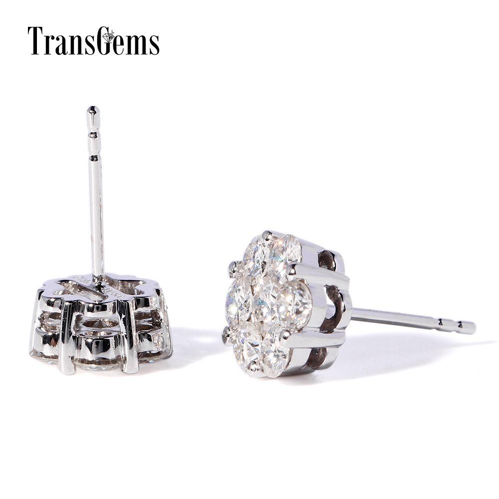 0 1 7 Ct Moissanite F Gh Color Stones Real Gold Ear Stud Boucle D Diamond Earringsdiamond