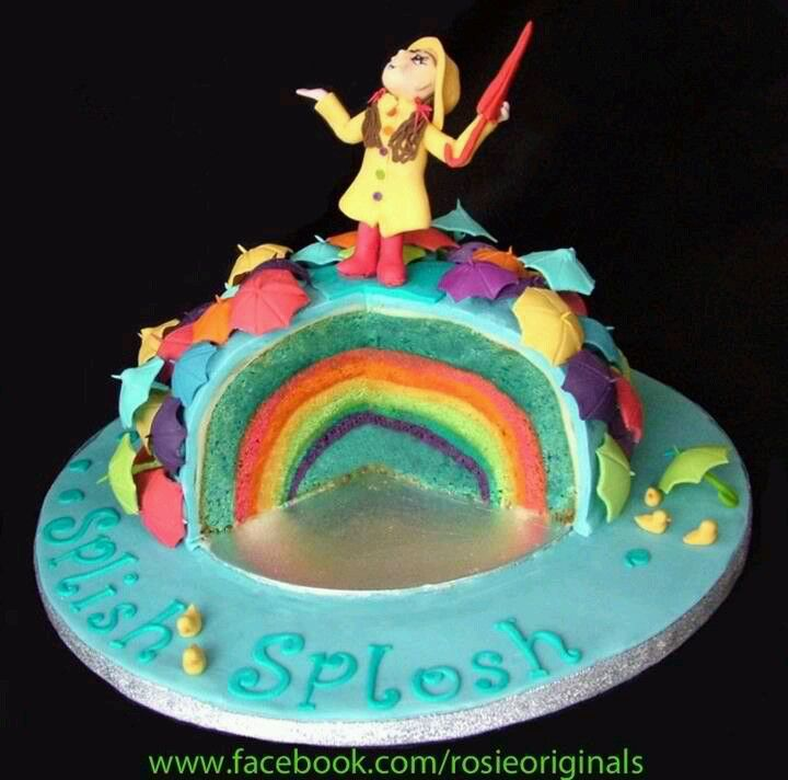Pattern inside cake rainbow