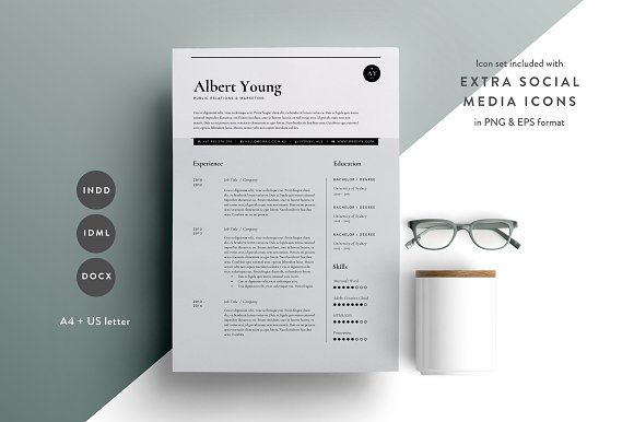 Resume Template 3 Page CV Template by The Template Depot on - 3 page resume