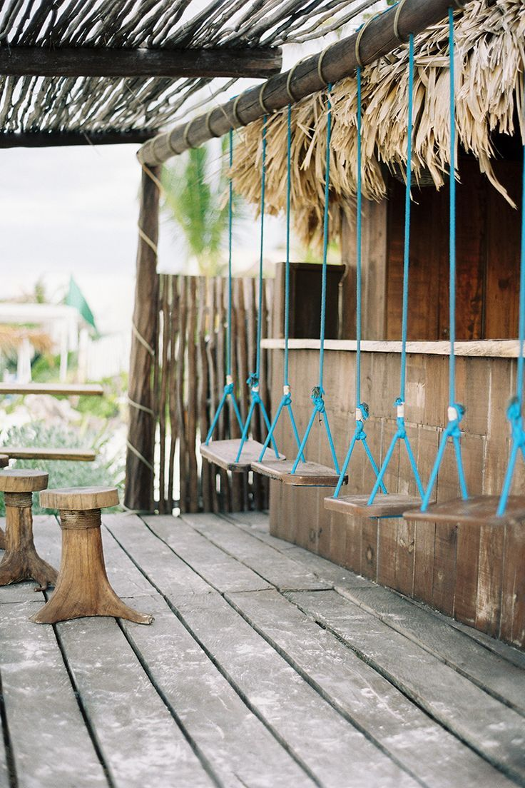 tulum mexico tec petaja swings an idea for our palapas on the