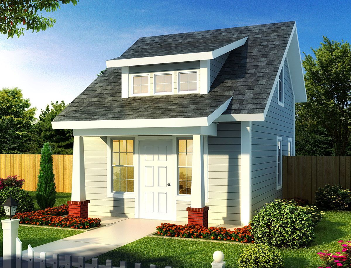 Plan wm tiny cottage or guest quarters tiny houses big