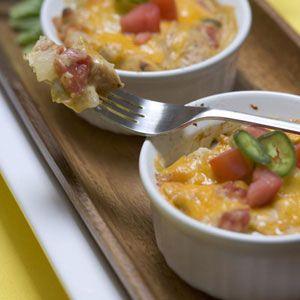 Mini Light King Ranch Chicken Casseroles Recipe