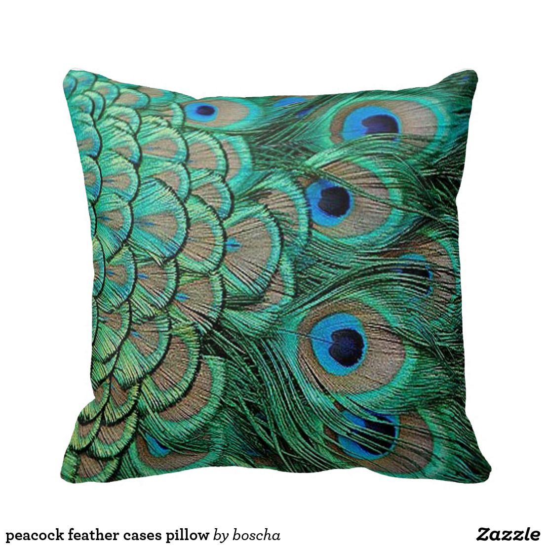 Peacock Feather Cases Pillow Zazzle Com In 2019 Throw Pillows