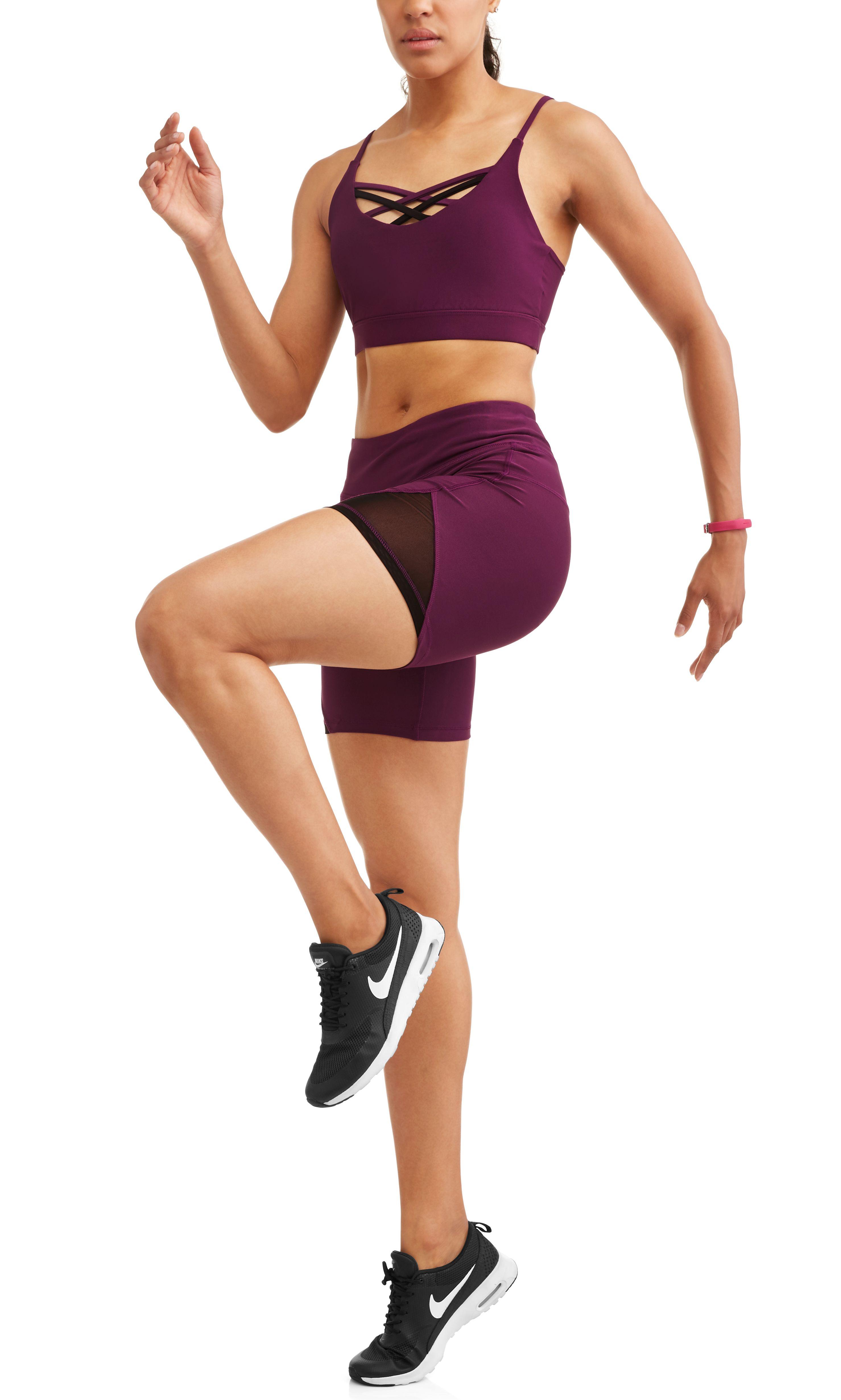 65df6fb946 N.Y.L. Sport Women s Active Lattice Front Sports Bra Active