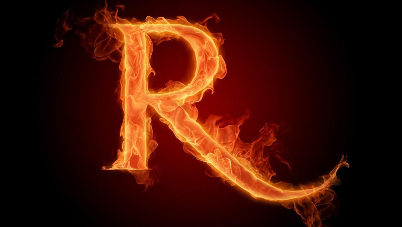 r logo | letter r wallpaper - download the free fiery english