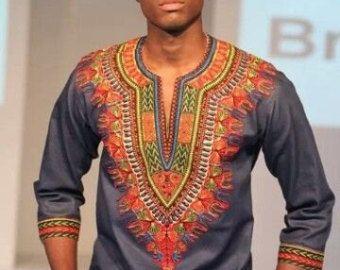 chemise dashiki homme chemise dashiki african print des hommes africains v tements. Black Bedroom Furniture Sets. Home Design Ideas