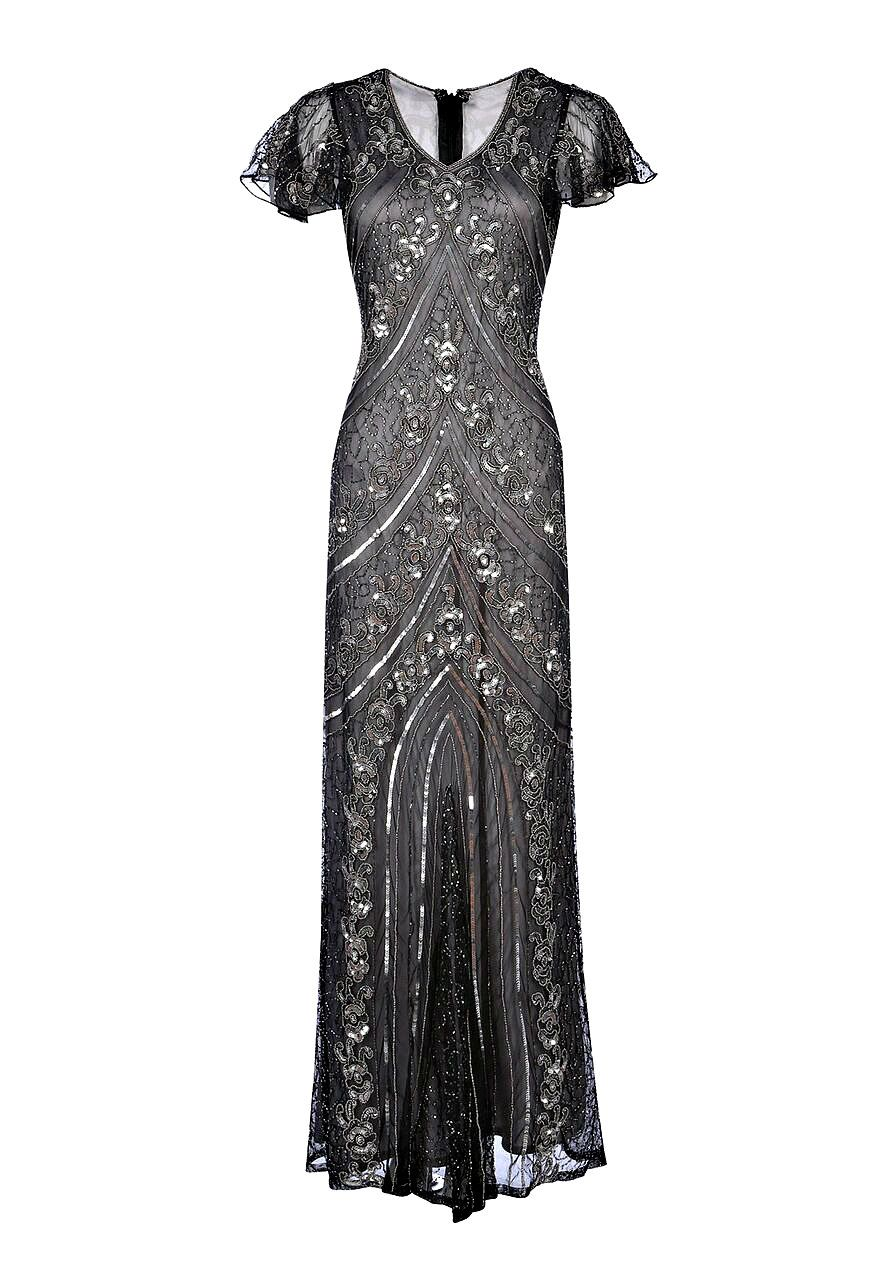 Lima Embellished Flapper Dress, 1920s Great Gatsby Dress, Downton ...