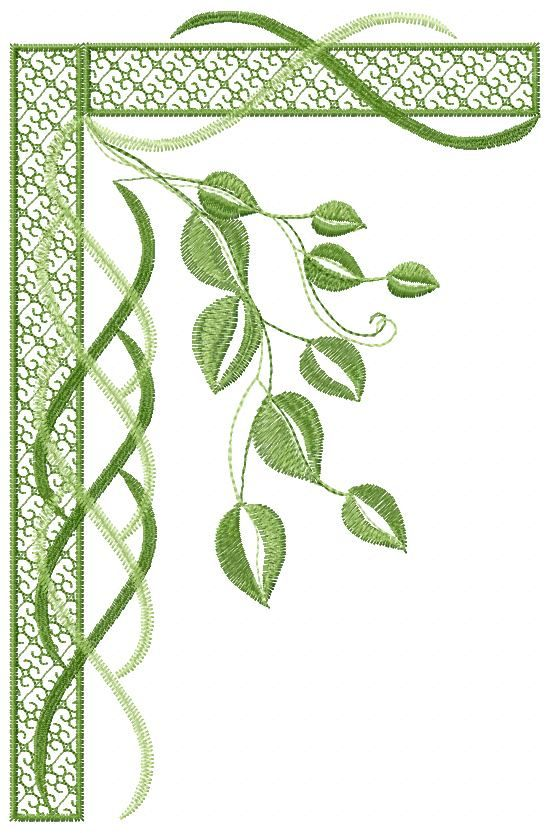 Green Leaves Free Embroidery Flowers Free Machine Embroidery