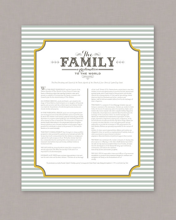picture regarding Family Proclamation Printable identified as PRINTABLE 8x10 The Family members A Proclamation in direction of by way of