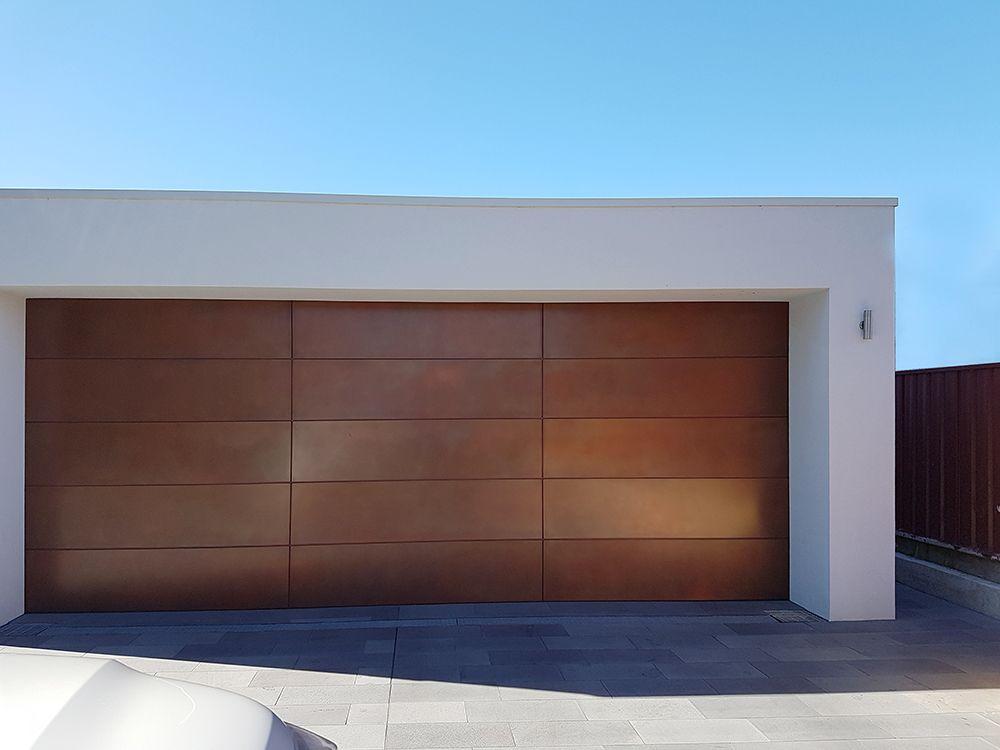 Copper Smooth Pearl   Garage Door