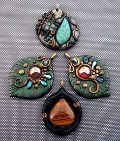 Polymer clay pendants by mandarinmoon on deviantart dijes polymer clay pendants by mandarinmoon on deviantart aloadofball Gallery