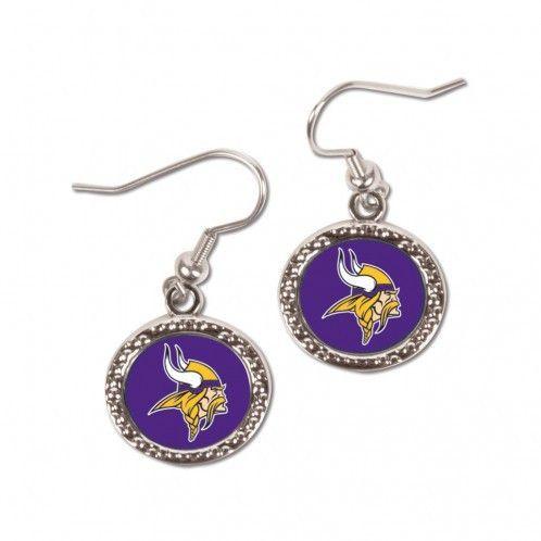 ~Minnesota Vikings Earrings Round Style~ backorder