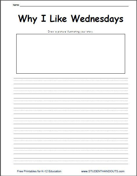 Why I Like Wednesday Writing Prompt Printable   Daily 5: Work on ...