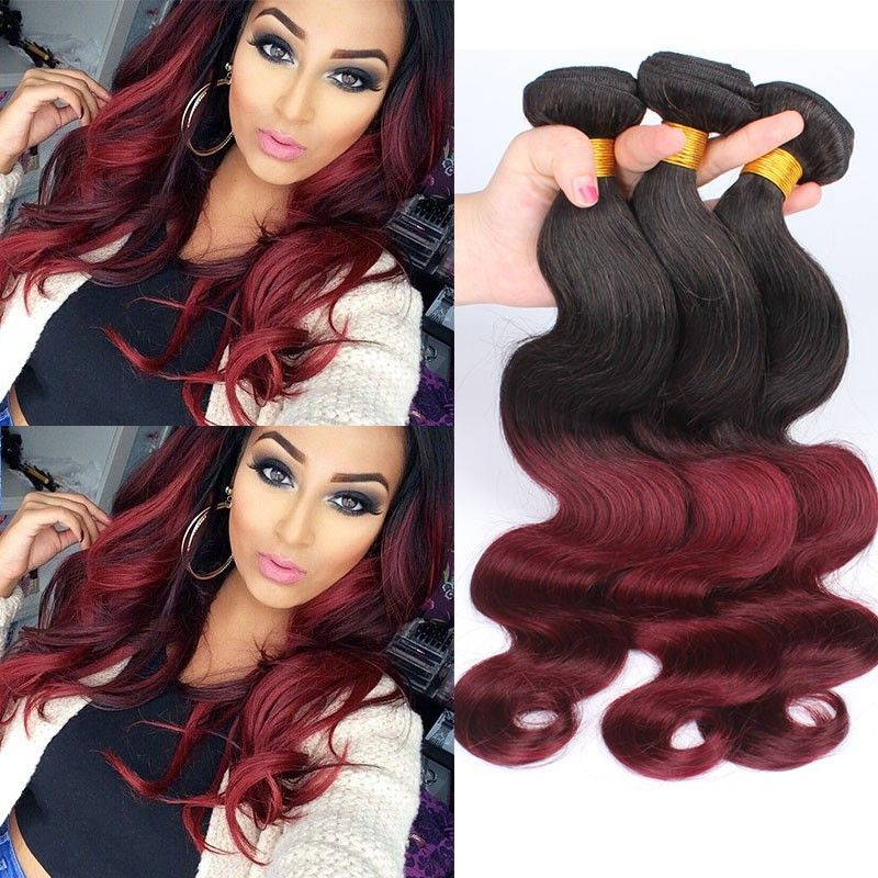 Two Tone Hair Color Ombre Body Wave Weave Wavy Your Life