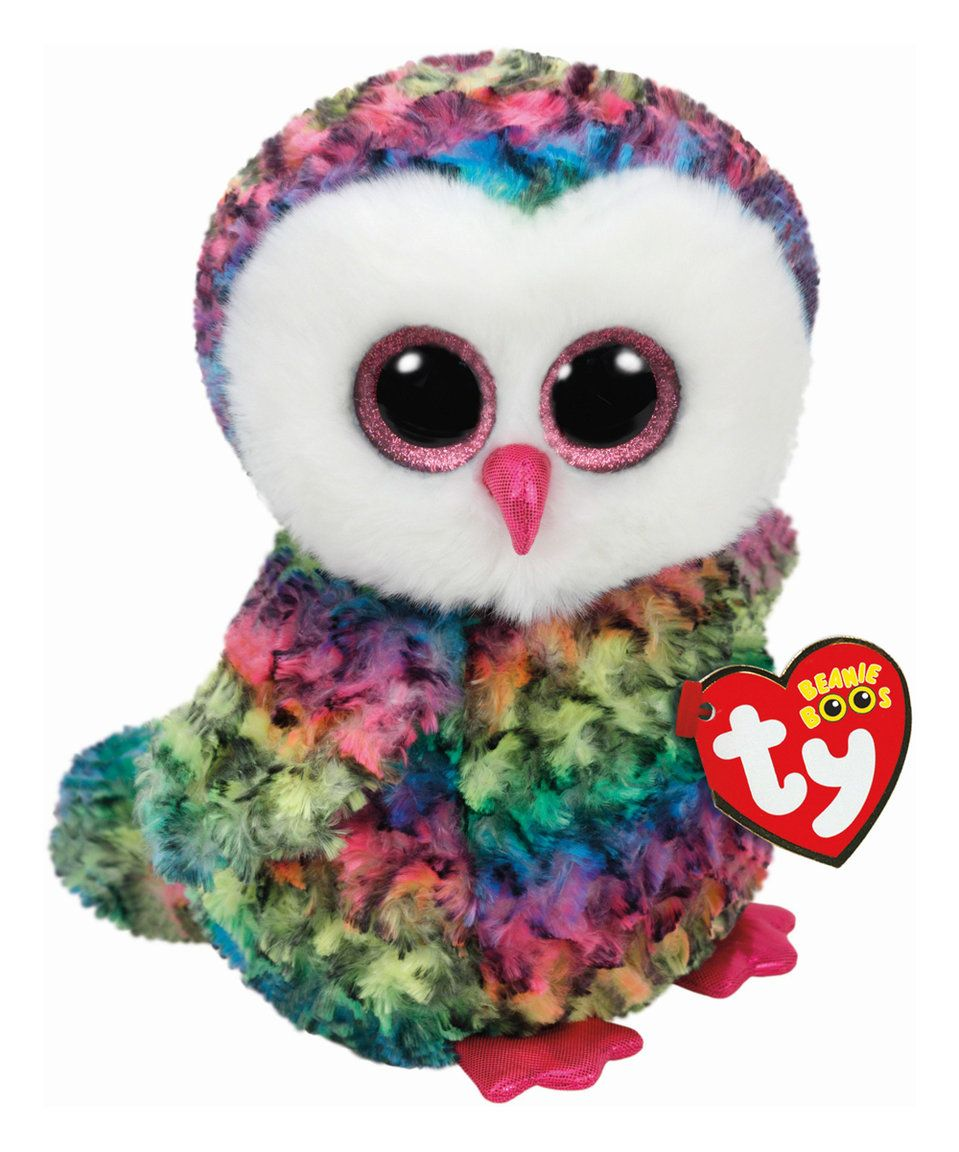 bc2947e2e7d Take a look at this Owen Rainbow Owl Beanie Baby today!