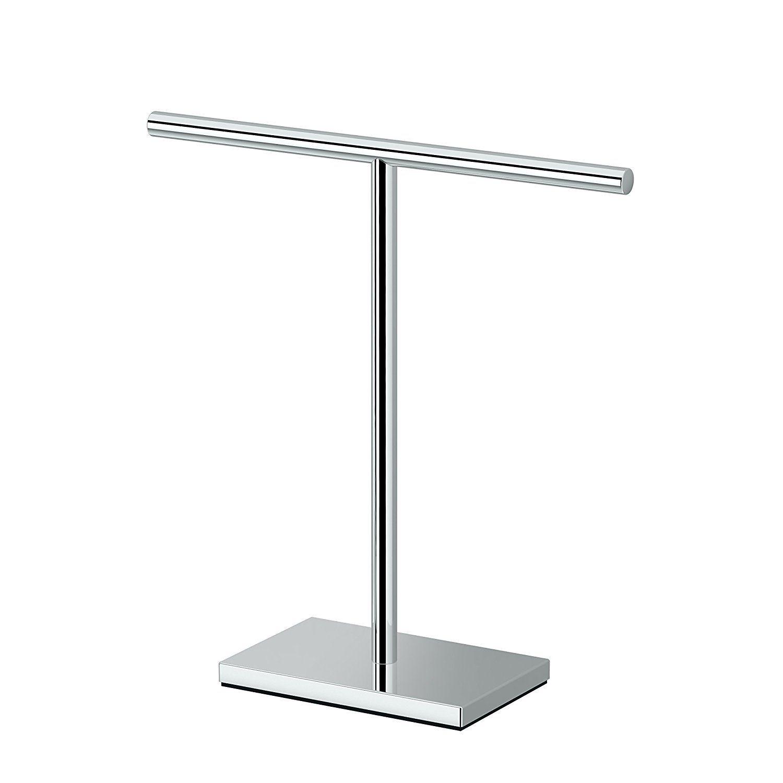 Gatco 1444c Modern Rectangle Base Bathroom Counter Top Hand Towel Holder 11 13 Height