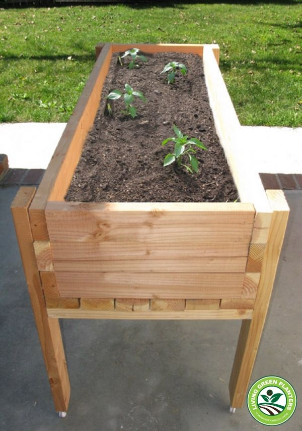 Living Green Planters Portable Elevated Planter Box With Images
