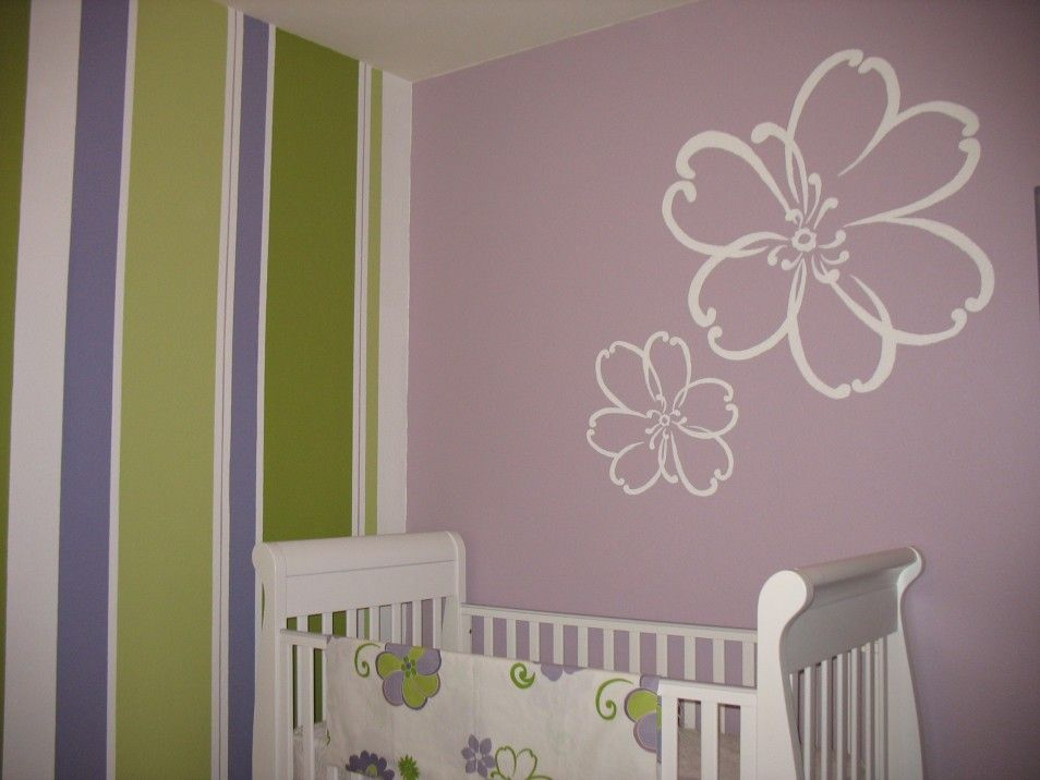 The Luxury Pink Wall Decoration Design In Cute Little Girl Rooms