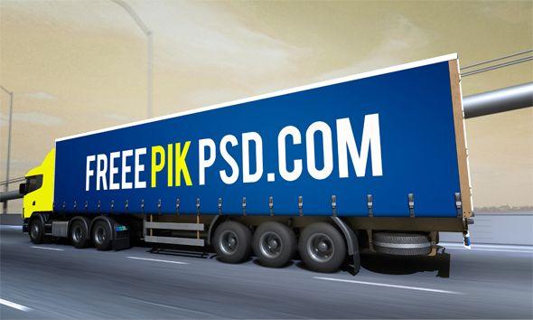 Download Free Food Truck mockup Psd