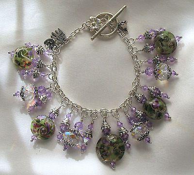 Faerie Realm Lampwork Charm Bracelet