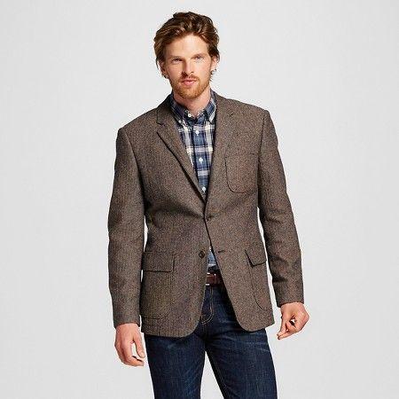 Men's Slim Fit Suit Coat Brown S - Merona ™ : Target | My Style ...