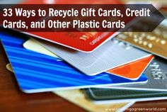 33 ways to recycle gift cards credit cards and other plastic cards 33 ways to recycle gift cards credit cards and other plastic cards including my up cycled gift cards into chalkboard gift tags tutorial colourmoves Images