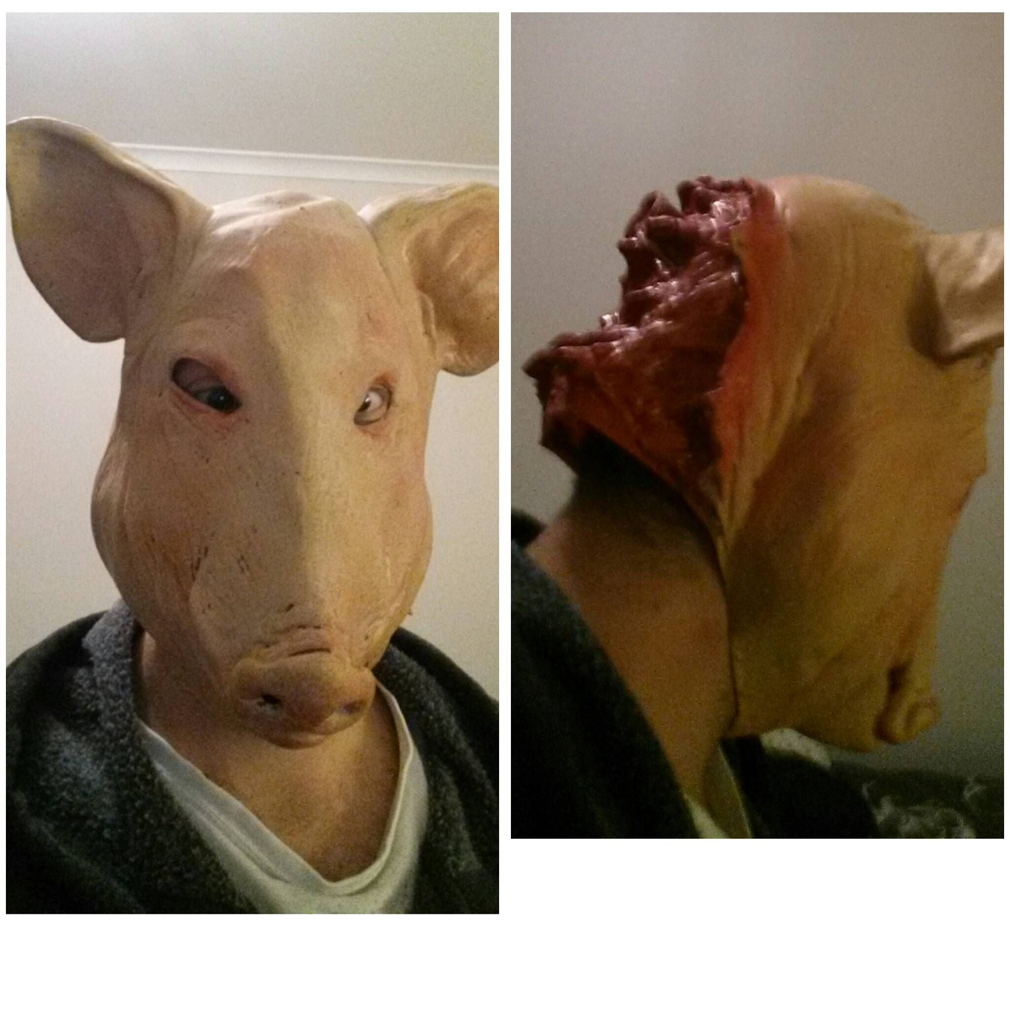 Picked up an awesomely creepy pig mask off eBay | Pig mask and Masking