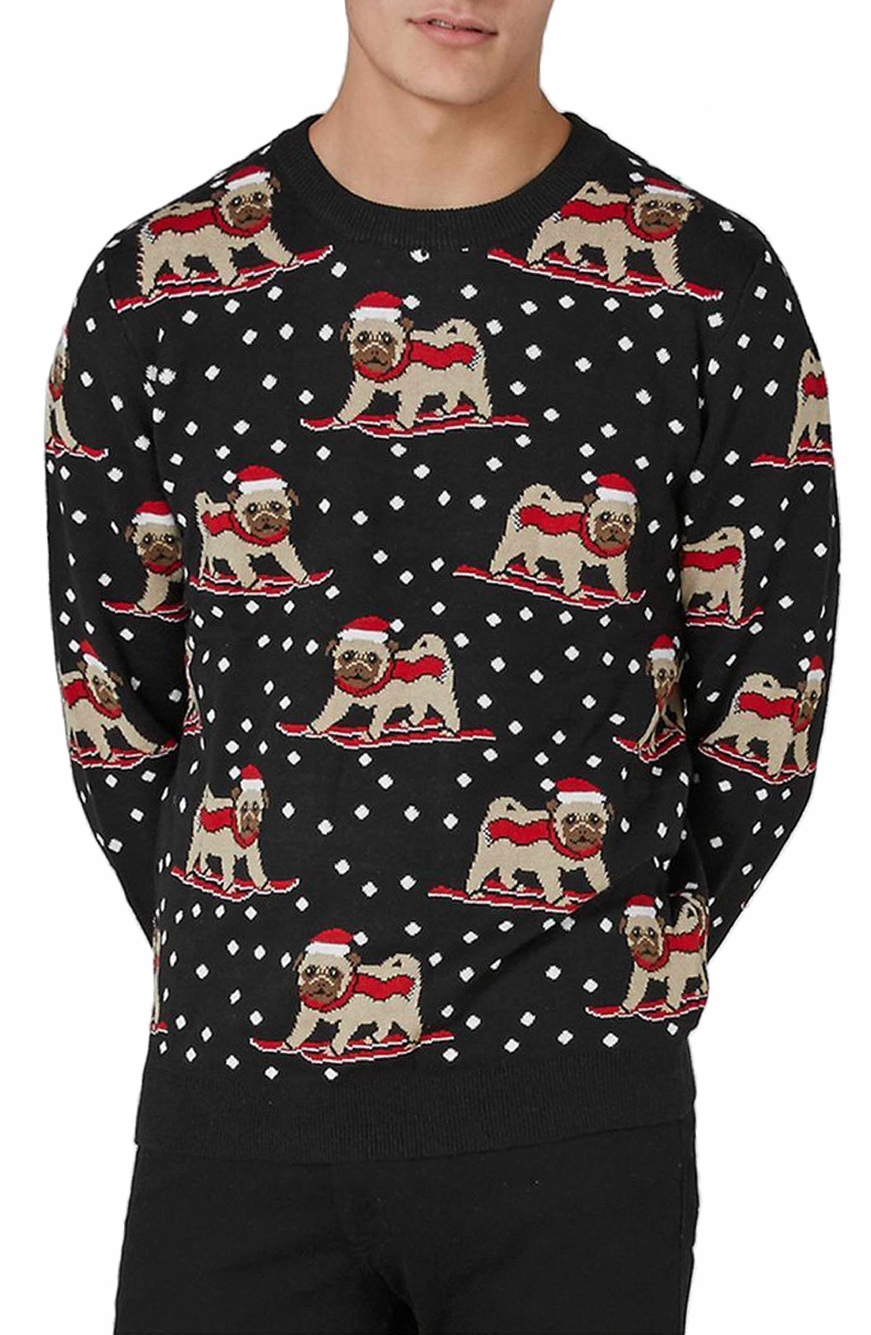 Main Image - Topman Skiing Pug Sweater | Christmas | Pinterest | Ski ...