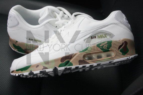premium selection 6f200 e2b1b Bape Camo Nike Air Max 90 Custom Men Women   Kids by NYCustoms   Pinterest    Bape, Air max and Air max 90
