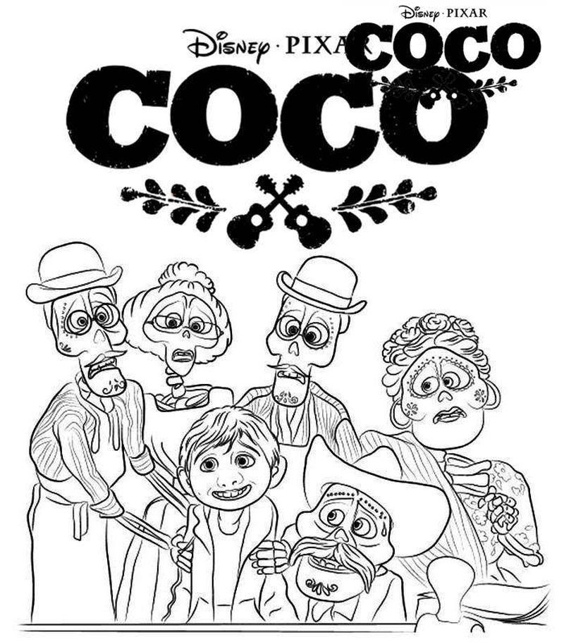 Coco Movie Coloring Pages Disney Coloring Pages Coloring Pages Coloring Pages For Kids