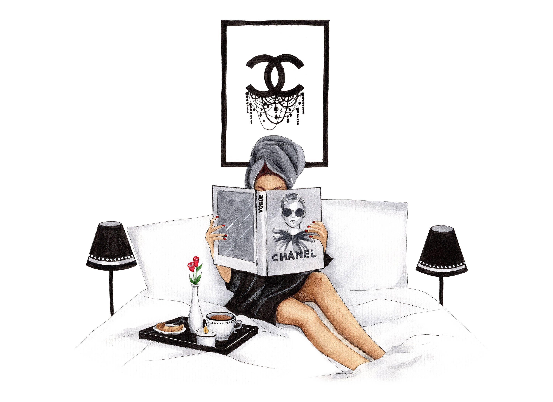 6841e42e5f35 Fashion Illustration Fashion wall art Chanel art Chanel print Vogue art  print Coco chanel art Chanel home decor Chanel lover gift Vogue This is a  print ...