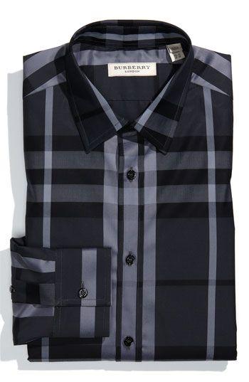 6198160875d2 Burberry London Trim Fit Dress Shirt   chemise   Pinterest