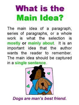 Main Idea And Details Powerpoint Reading Main Idea Reading Vocabulary Main Idea