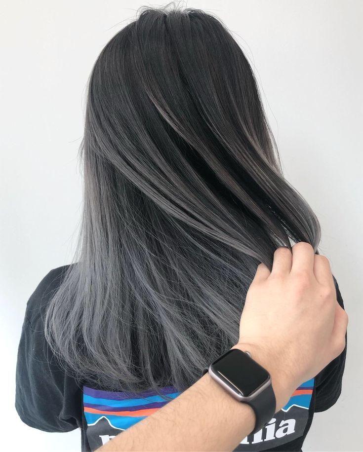 Grey Hair Greige Balayage Grau Haar Greige Balayage Balayage Greige G Balayage Grau Greige G Gaya Rambut Pendek Warna Rambut Warna Rambut Ombre