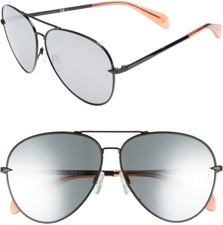 72caf5ceae52 Rag   Bone 63mm Oversize Aviator Sunglasses