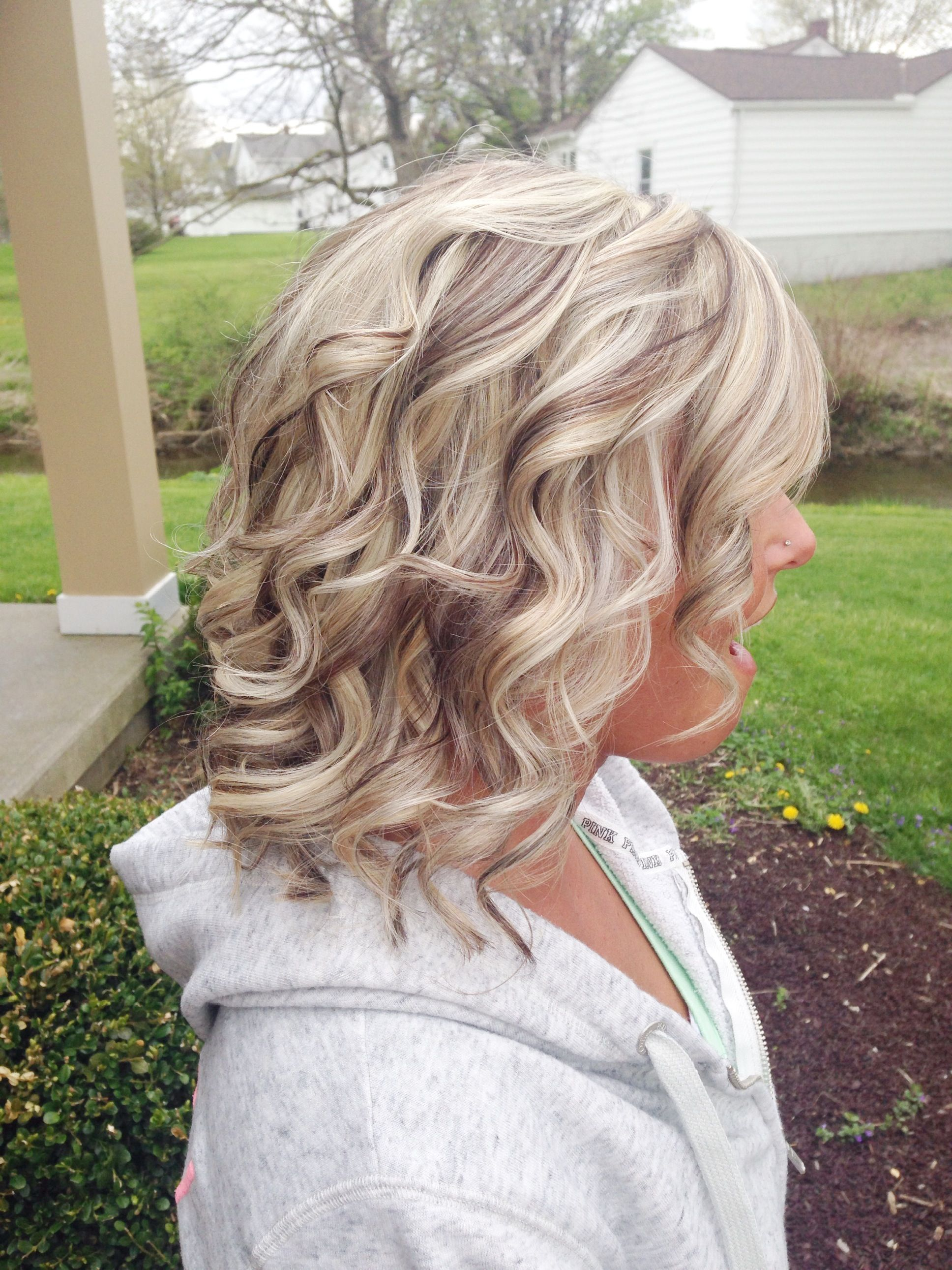 Curly Hair Highlights Lowlights Pin By Jen Flax Bollinger On Hair Color Blonde With