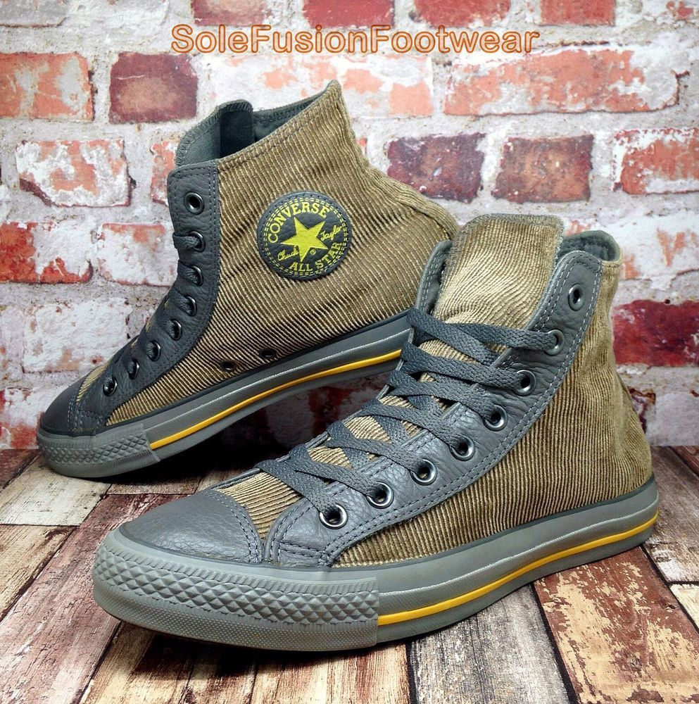 6ef7f3972d8f51 Converse Mens All Star Corduroy High Trainers Brown sz 9 VTG Boots Womens  US 11