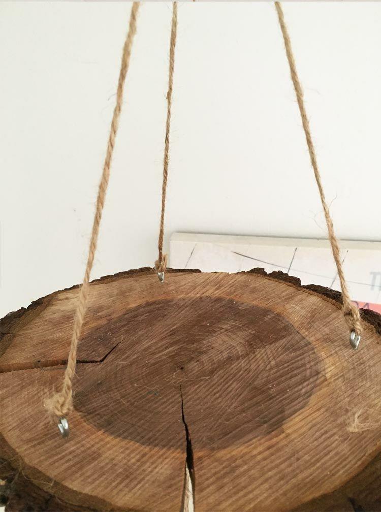 Mit Holzscheiben basteln für eine natürliche wirkende Herbst Deko