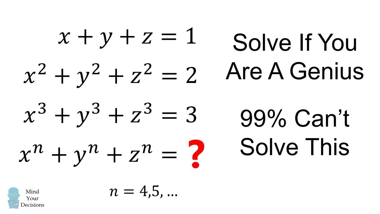 Solve If You Are A Genius Only 1 Can Logic Math Solving Middle School Math [ 720 x 1280 Pixel ]
