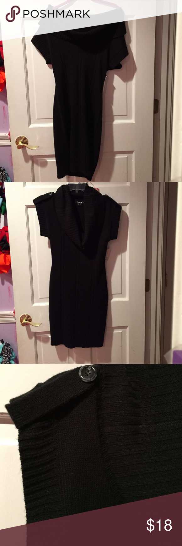 NWT Sweater Dress Super Cute Sweater Dress that you can wear different ways. As a cow neck or off the shoulders. Tag says small but a small/medium can wear this Sequin Hearts Dresses