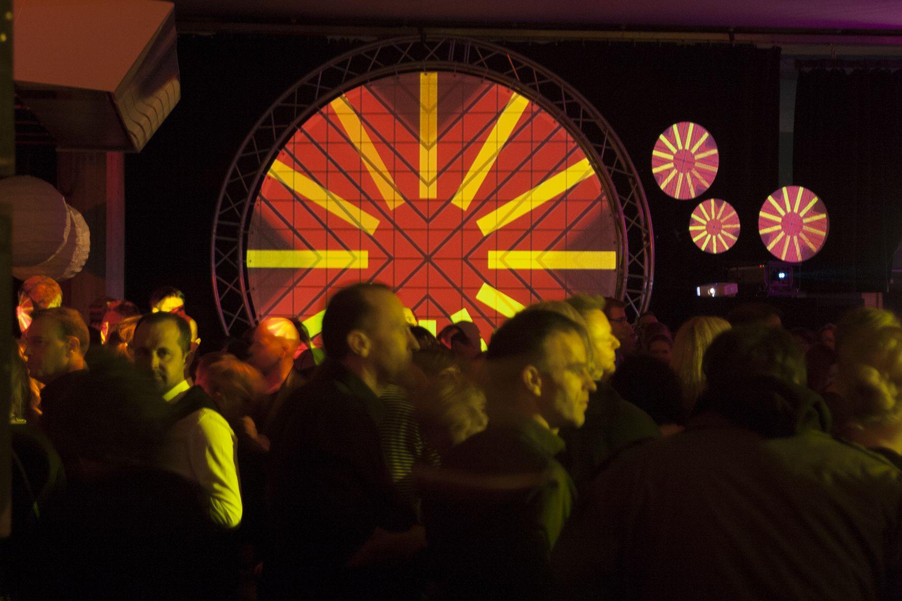 Visuals von PXNG.LI zur after art Party 2017 im Badischen Staatstheater Karlsruhe